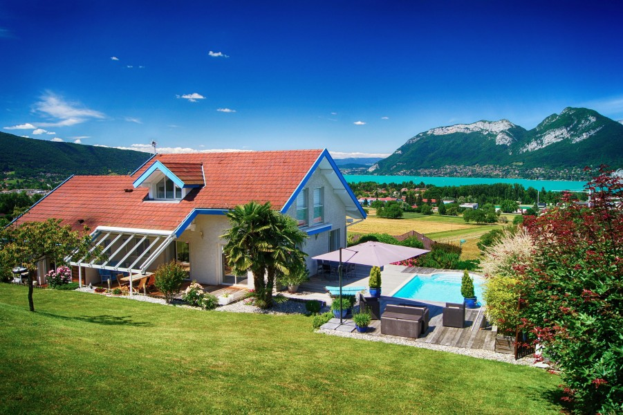 House For Sale In Annecy Haute Savoie Spectacular Modern Villa With Massive Views Over Lake