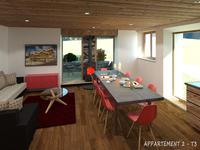 T4 Appartement de luxe neuf, centre de village de Notre Dame de Bellecombe. Espace Diamant, 2 chambres.