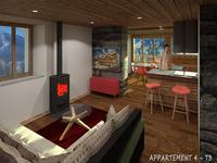 NOUVEAU appartement de luxe de 2 chambres, prêt pour décembre 2017, à Notre Dame de Bellecombe, Espace Diamant.