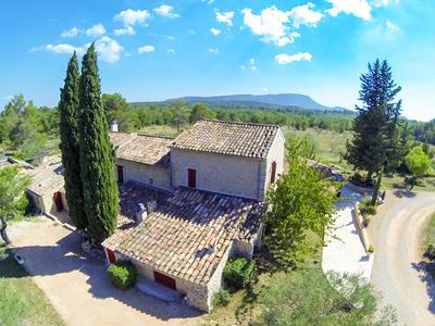 Superb property in Provence approx 10 minutes from Cotignac, secluded and private with spectacular views. 5 hectares, swimming pool, extensive accommodation with a total of 8 bedrooms including main house, separate house and studio plus garages. Access from Marseille or Nice International Airport