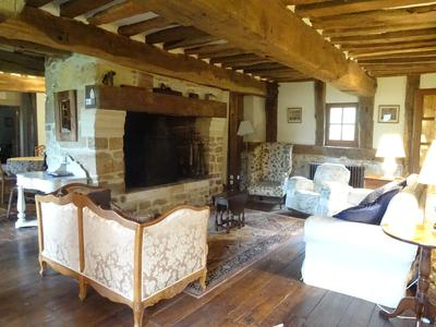 Charming 15th century colombage manor house with stunning views, set in 21 hectares in the beautiful Pays d'Auge countryside. Just oozing with character and steeped in history.