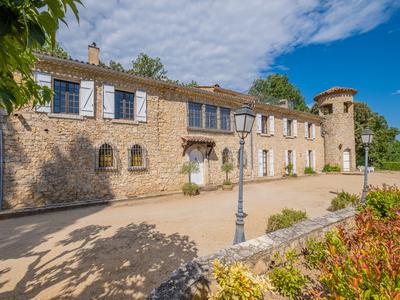 Exceptional stone bastide and country estate in the heart of Provence with 98 hectares, swimming pool and tennis court. Private and secluded, rarely available.