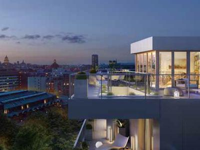 75015, Metro Convention, high-end, 2 bed/1 bath, N/W facing state-of-the-art apartment offering 80.5m2 + 7.52m2 Balcony ( 88m2 private space - see floor plan), ready to move into at the end of this year, bright & modern with optimized space, on the 3rd floor, garden courtyard side, of a residence offering all the essential comforts of todays lifestyle, close to the square Adolphe-Chérioux