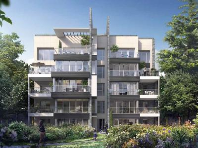 75015, Metro Convention, high-end, 3 bed/1 bath, triple S/W/N exposed state-of-the-art apartment offering 109.1m2 + 12,23m2 Balcony ( 121.33m2 private space - see floor plan), ready to move into at the end of this year, bright & modern with optimized space, on the 2nd floor, garden courtyard side, of a residence offering all the essential comforts of todays lifestyle, close to the square Adolphe-Chérioux