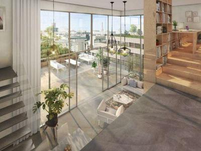 75013,  Paris Rive Gauche, high-end, large 1 Bedroom, 88.7m2 with a vaulted loft and mezzanine, SW facing, state-of-the-art 2 floor apartment ( see floor plan), take the keys the beginning of  2024, bright & modern with optimized space, on the 2nd and 3rd floor, of a residence offering all the essential comforts of todays lifestyle, close to the Jardin des Plantes