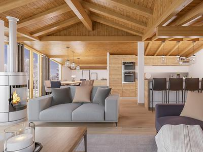 Brand new 3-bedroom chalet for sale , part of a prestigious development nestled in Le Bettex, with direct access to the world's largest ski area- the 3 Valleys