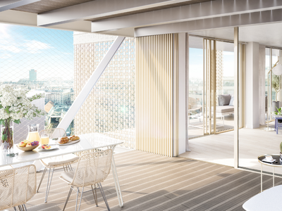 75015, Vaugirard, brand new 1 bed/1 bath, offering 54m2 + 10 m2 balcony (private space - see floor plan), new and ready to move into during the sping 2024, bright & modern with optimized space, on the 4th floor in a peaceful residence offering all the essential comforts of today's lifestyle, close to all amenities: shops, services, nightlife, nurseries, parks and schools (see 360 views)