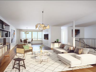 75015, Vaugirard, brand new 2 Floor Smart Penthouse, 161m2, 4 bed/3 bath, amazing state-of-the-art apartment  - double southern exposure with terraces on two floors (see floor plan), new and ready to move into during the spring 2024, bright & modern with optimized space, spanning the 7th and 8th floors, of a residence offering all the essential comforts of today's lifestyle, close to all amenities: shops, services, night life, parks, nurseries and schools. (see 360 views and video)