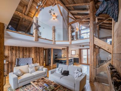 Luxury farmhouse ski chalet for sale in Domaine Evasion Mont Blanc ski area. Great views. Renovated to a high standard with great access to the 445 km of the Megeve, St Gervais,  Les Contamines, Combloux ski area . Under an hour to Geneva.  EXCLUSIVE to the Leggett website, do not miss the 360º virtual tours and the 3D floorplans