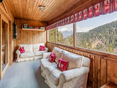 FOR SALE, in a breathtakingly beautiful and peaceful location, sunny 6 bedroom chalet plus self contained 2 bedroom apartment set in almost 10,000 m2 of private land. Just 4 minutes from the ski slopes at Samoëns 1600. **Ski to the front door – if you are an off-piste skier! ** Video viewings possible.