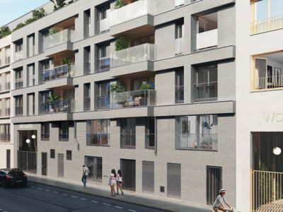 92110, Clichy-Levallois upscale 3 bedroom apartment with south western orientation ( see plan) of 106m2 + 5m2 balcony, resolutely optimized and ready to move in summer 2023, offering clarity and modernity on the 4th floor of a modern complex 2 steps from Paris.