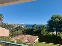 Cannes, Appartement de 3 pièces avec vue mer panoramique sur la baie de Cannes et ses îles de Lérins dans une résidence avec piscine à débordement.