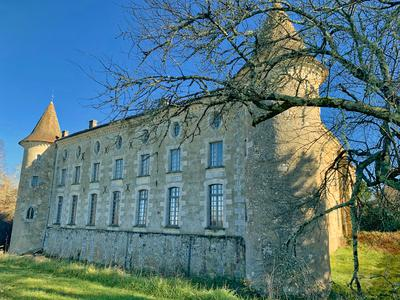 Impressive château built in the 14th and 18th centuries comprising a logis with 12 bedrooms, various reception rooms, a small chapel, as well as 4 gîtes set up in its outbuildings around a large swimming pool. 13ha park composed of woods and meadows.