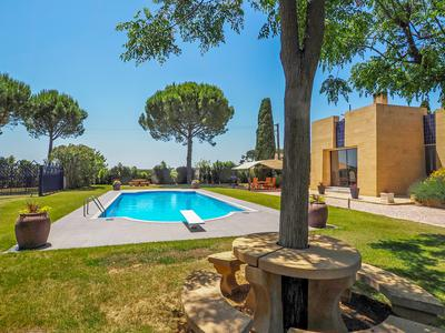 Luxurious architect-designed contemporary property set in exquisite grounds on the outskirts of a lively village less than 30 minutes from the beaches of the Mediterranean