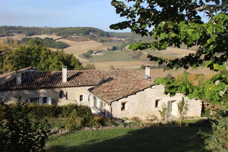 maison vendre en midi pyrenees tarn et garonne trejouls magnifique maison en pierre blanche. Black Bedroom Furniture Sets. Home Design Ideas