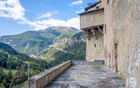 XIII th century Castle located in outstanding natural alpine setting…