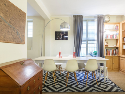 Renovated 67m2 2 piece Duplex perfectly located steps away from Parc du Champ de Mars, the Eiffel Tower, and Invalides.