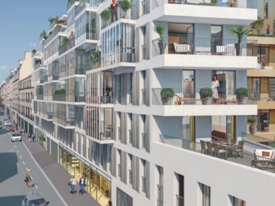 Between Boulevard St-Germain & the Seine River, luxury South-East facing 2/3 rooms property with parking space in a modern & stunning new development close to the river