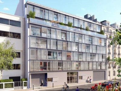 At the heart of the intellectual and artistic neighbourhood, stunning brand new 3 bedrooms apartment of 107m2 + 131m2 South West outside space on the 6th floor of a modern and elegant development, a stone's throw from the Luxembourg Gardens