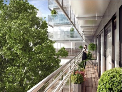 At the heart of the intellectual and artistic neighbourhood, stunning brand new 4 bedrooms apartment of 130m2 + 24m2 sunny West facing terraces on the 1st floor of a modern and elegant development, a stone's throw from the Luxembourg Gardens