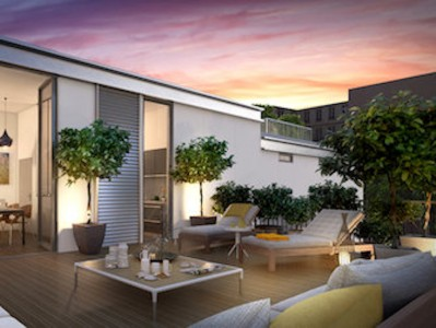 Contemporary inspiration for this exceptional designed 3-bedroom duplex of 119m2 with 52m2 terraces on both floors along le jardin des Plantes in the historical Paris