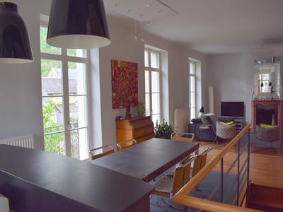Superb mansion in the centre of Bagneres de Luchon, a beautiful spa town and ski resort in the Pyrenees.  Renovated home with an additional 4 apartments to rent.  The owner accommodation is luxurious with a stunning living area and terrace with panoramic views.