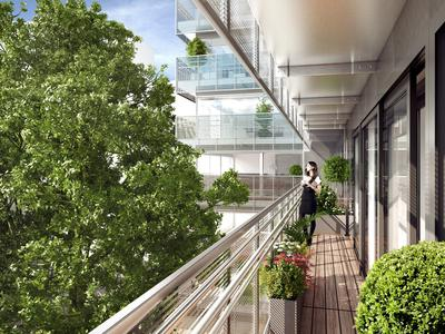 Paris 75014, a stone's throw from the Luxembourg Gardens & ready to move in in 12 months, brand new 3 bed apartment with generously proportioned interiors for 122M2 in total with the 15M2 West facing wraparound balcony enjoying open views, light & space being at the heart of this exceptional residence