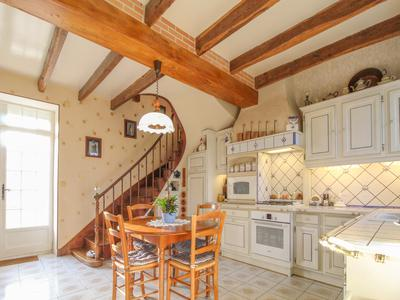 This charming, fully renovated, four bedroom manor house, with beautiful wooden beams throughout, offers comfortable living and business potential with its array of outbuildings and large garden, and when those gates are shut you can be in your own private world.