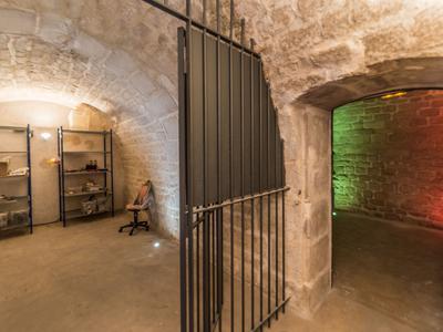 Grande cave restructurée et renovée de 220m2 au sous-sol d'un immeuble ancien. A proposer uniquement à un copropriétaire de l'immeuble.