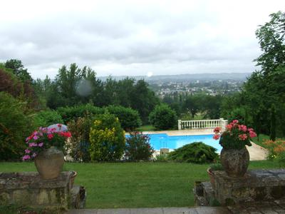 Stone Manor House, close to Bergerac Airport.The property is on a south-facing hill with stunning views over Bergerac town and its surroundings.