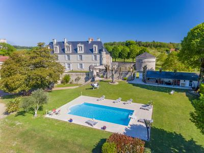 Stunning historic 7 bedroom chateau with dry moat set in 27 acres close to Chatellerault