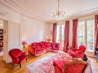 "Paris 6th - 75006 - Rare - Superb 3-Bedroom family apartment of 130 sqm with a beatiful wrap around balconny, at the 2nd floor called ""Noble"" with elevator, bright and quiet near the Jardins du Luxembourg"