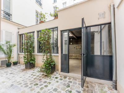 Paris 7503, at the heart of the fashion district, 97m2 of open space Loft style (+225m2 converted cellar) with undeniable potential for residential (no short term rental) or commercial use on the courtyard side of a well looked after 1880 building, ideal location in coveted area of Temple-Republique
