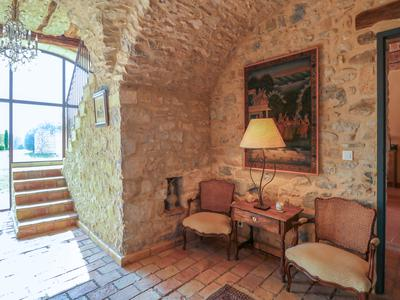 Magnificent well renovated stone mas with a lots of character and space for possible extension of the living space with barns, garage and swimming pool in quite area with nearly 4ha of land, between Uzès and Barjac.
