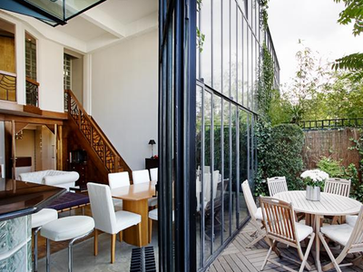 PARIS 18th at the foot of Montmartre, contemporary LOFT style apartment (T2/3) offering 87,91m2 & 7,29m2 balcony, ideally West-South/East oriented , with acoustic and thermic comfort, on the ground floor of a building under construction, Ordener-Poteau district