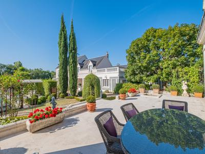 Luxury 6-bed property, 2 guest houses, heated pool, gymnasium, sauna, elegant garden & river views, Montrichard, Loire Valley 41.