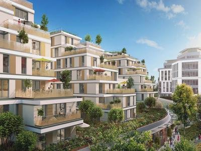 92130 Issy-Les-Moulineaux, an apartment of 99.91m2 of private surface, 88.44m2 + 11.47m2 of balcony, 4 Rooms/3 beds, 2 shower rooms + 1 Parking space, on the 6th floor and delivery in January 2022, offering quality services with beautiful outdoor spaces in a new eco-neighborhood with leisure and shops in walking distance, near the town hall of Issy.