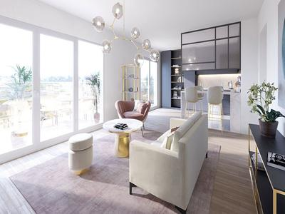 92130 Issy-Les-Moulineaux/City Hall, a high-end 3 Beds of 87m2 with 20.58m2 of 2 terraces and 1 optional Parking space (see Plan+360° view), optimized space, offering all the comforts of today's lifestyle, on the 1st floor of a contemporary building with lift and ready to move into in 30 months time.