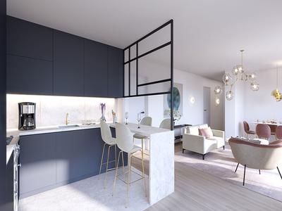 92130 Issy-Les-Moulineaux/City Hall - a high-end 2 Beds of 66.27m2 with 9.24m2 of loggia and 1 space parking (see Plan+360° view), double crossing E/W facing, offering all the comfort of the modern living, on the 7th floor of an avant-garde building and ready to move into in 30 months time.