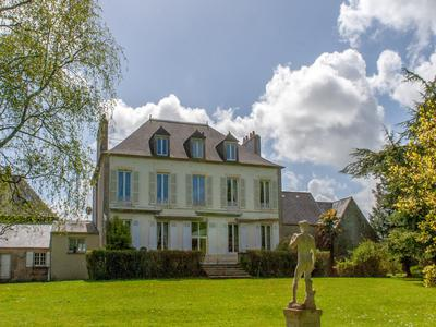 Petite Chateau with caretakers house, buildings and land. 8 bedrooms 3.5 bathrooms. Huge cellar with cave a vin. Situated in 1.6 Hectares of land with an impressive gated entrance. Only 30 minutes from Cherbourg and 3 minutes from the center of the historic town of Sainte Mere Eglise. 