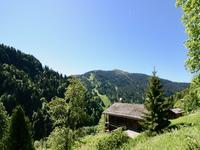À vendre à La Giettaz : magnifique alpage traditionnelle à rénover. Joli emplacement privé et tranquille avec vues grandioses sur le massif des Aravis. Accès domaine skiable à 1km.
