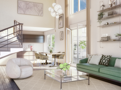 PARIS - Clichy 92110, Bordering Paris 17eme, contemporary 4 bedroom apartment offering 107m2 + 10m2 balcony, bathed in light with triple exposure, in a modern yet classic new development in a sought after neighborhood, between city and the Seine river. 9 minute walk to metro line 13.