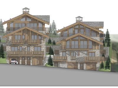 Rare opportunity to acquire a stunning, brand new, 5 bedroom ski chalet for sale on a prestigious new development ideally located in the sought after ski village of Saint Martin de Belleville- 3 Valleys