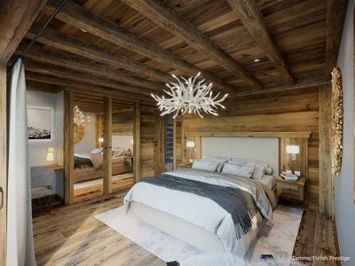 Part of a rare, prestigious development: new build, high-end ski chalet for sale, with 5 bedrooms and a variety of luxury amenities, situated at the heart of Saint Martin de Belleville- 3 Vallées
