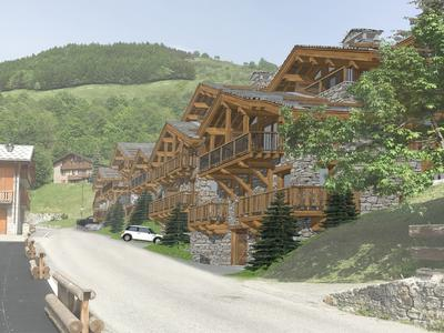 Unmissable opportunity: brand new, upmarket 6 bedroom ski chalet for sale, one of a collection of high-end chalets in a new, anticipated development at the heart of Saint Martin de Belleville- 3 Valleys