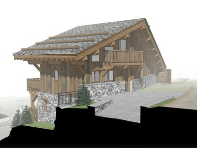 Impeccably designed luxury, spacious, new build ski chalet for sale, 280 sqm, complete with 6 bedrooms and a wealth of amenities, part of prestigious development in the heart of Saint Martin de Belleville- 3 Valleys