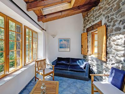 * Under offer * Ardèche. Superbly restored stone farmhouse, beautifully designed, views to the Alps. Only 25 minutes from Montelimar-TGV. Pool possible. Very quiet surroundings, river close by.