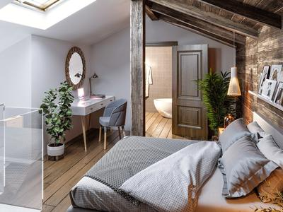 Exceptional new build 4 bedroom triplex apartment for sale in a renovated traditional farmhouse from the 18th century in the old quarter of Morzine centre