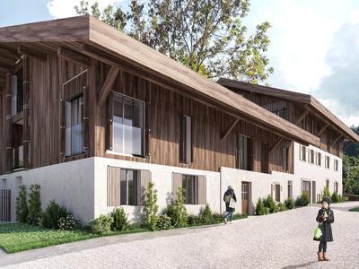 Exceptionnel - Appartement Duplex Neuf au sein d'une Authentique Ferme Savoyarde Traditionnelle du 18ème siècle, au coeur du quartier Historique de Morzine.