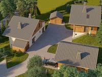 Neuf -   chalet de luxe de 120 m2 avec 4 chambres à vendre à Saint Gervais  situé dans un développement exclusif à quelques pas de la piste, à 2 km du centre ville